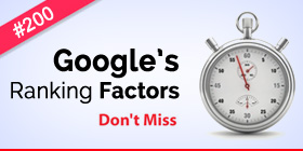 Google Ranking Factors for SEO